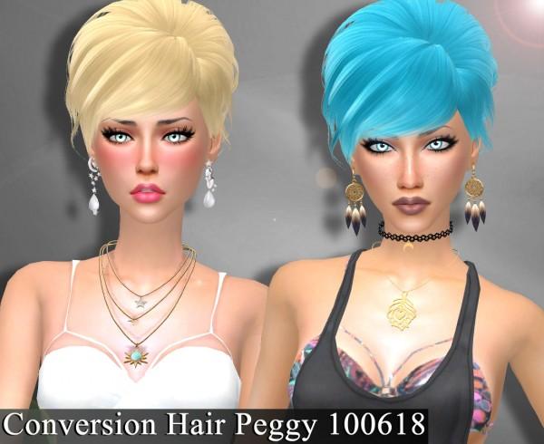 Genius6613: Hair Peggy 100618 for Sims 4