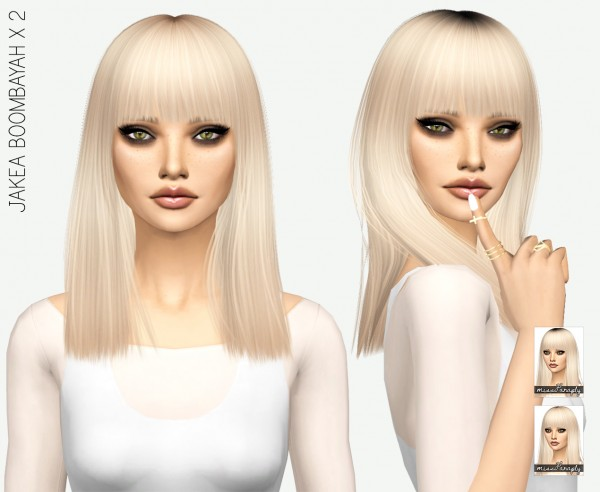 Miss Paraply: Jakea Boombayah hair retextured for Sims 4