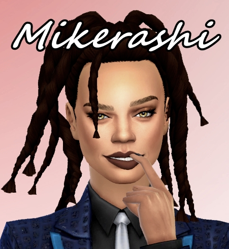 Mikerashi: Rated R Hair   Inspired by Rihanna for Sims 4