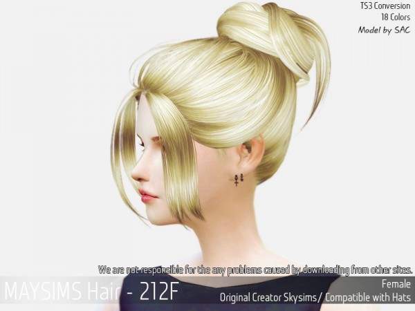 MAY Sims: May 212F hair retextured for Sims 4