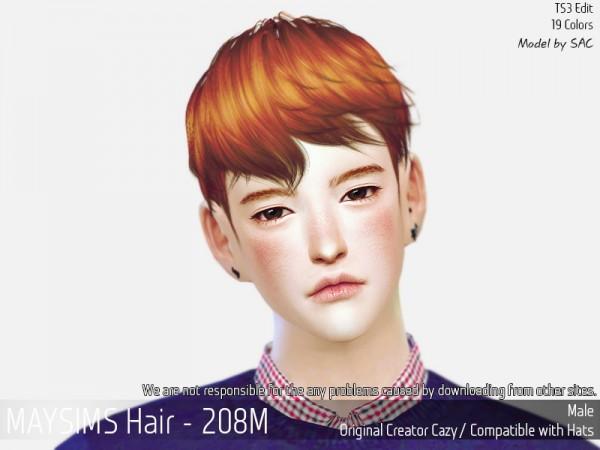MAY Sims: May 208M hair retextured for Sims 4