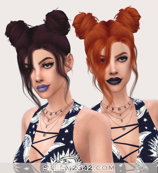 Salem2342: LeahLillith`s Nevaeh Hair Retextured for Sims 4
