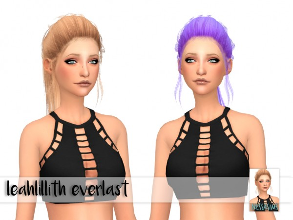 Nessa sims: Leahlillith` Etheral, Everlast and Hart hairs retextured for Sims 4