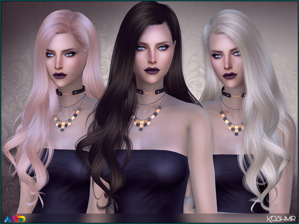 The Sims Resource: Anto`s Kashmir hair for Sims 4