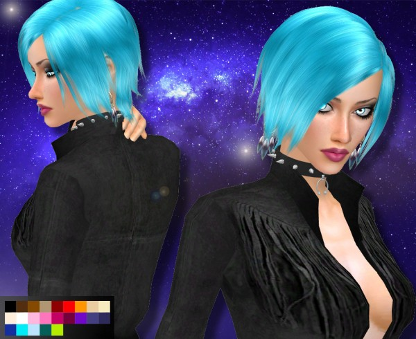 Genius6613: Hair Kylie for Sims 4