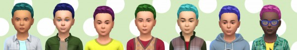 Simsworkshop: Color hair kid by Alfredlovessims for Sims 4