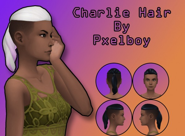 Simsworkshop: Pxelboy Charlie Hair retextured by Pxelboy for Sims 4