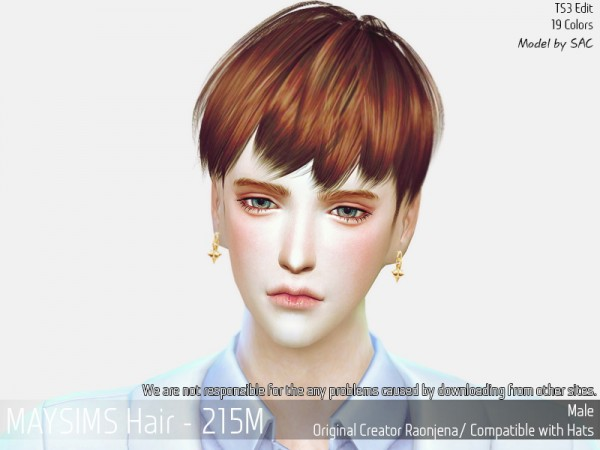 MAY Sims: May 215M hair retextured for Sims 4