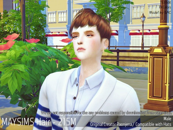 MAY Sims: May 215M hair retextured for Sims 4