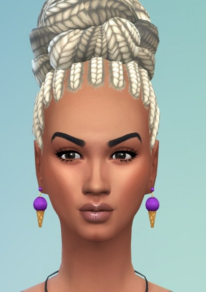 Birksches sims blog: Braid Knot on Top for Sims 4