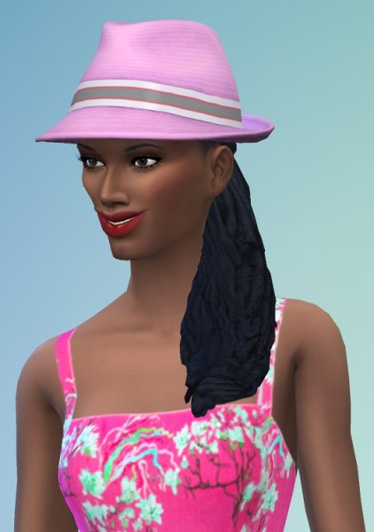 Birksches sims blog: Dreads by Side hair for Sims 4