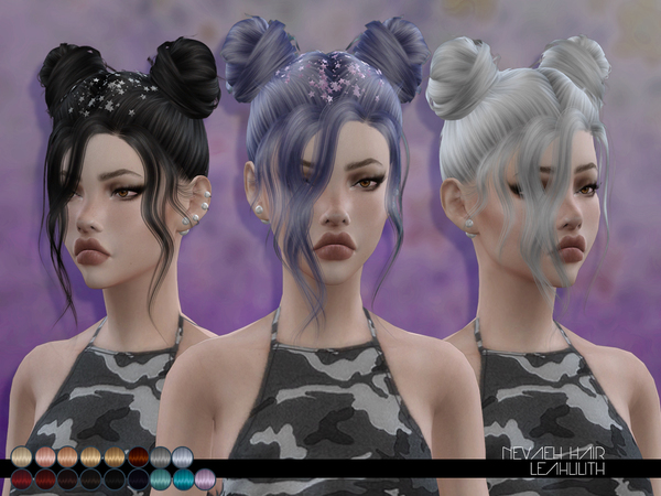The Sims Resource: Nevaeh Hair by LeahLillith for Sims 4