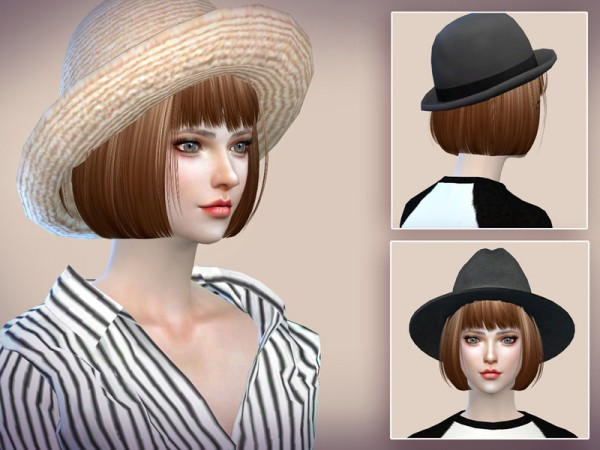 The Sims Resource: Hair N6 by S Club for Sims 4