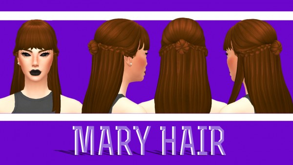 Enrique: Mary Hair for Sims 4