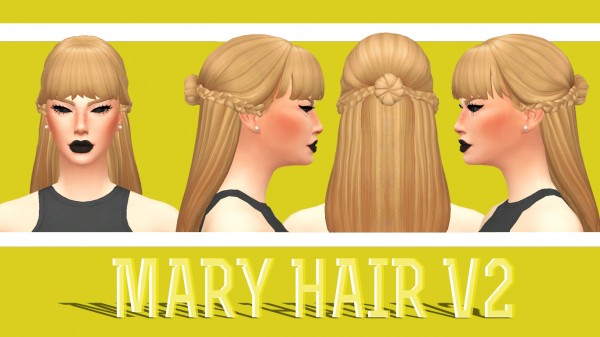 Enrique: Mary Hair V2 for Sims 4