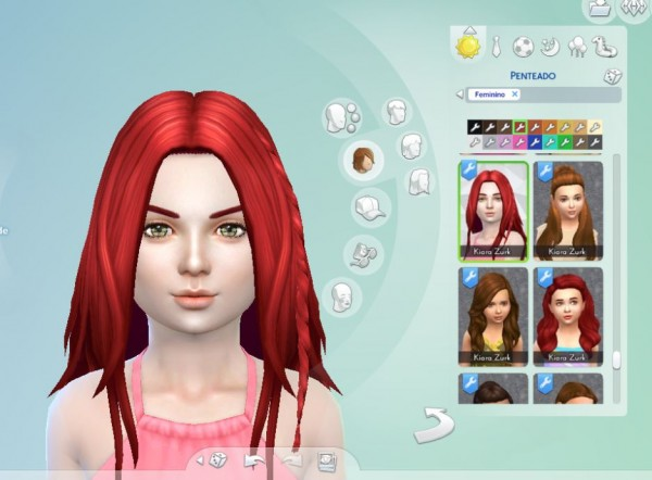Mystufforigin: Germania hair for girls for Sims 4
