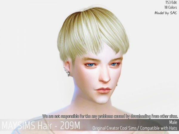 MAY Sims: May 209M hair retextured for Sims 4