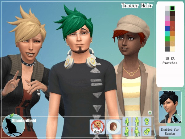 Simsworkshop: Tracer Hair by Standardheld for Sims 4