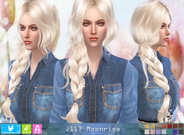 NewSea: J117 Moonrise hair for Sims 4