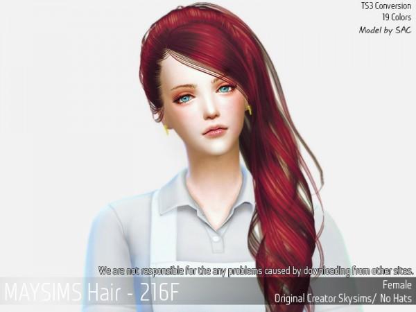 MAY Sims: May 216F hair for Sims 4