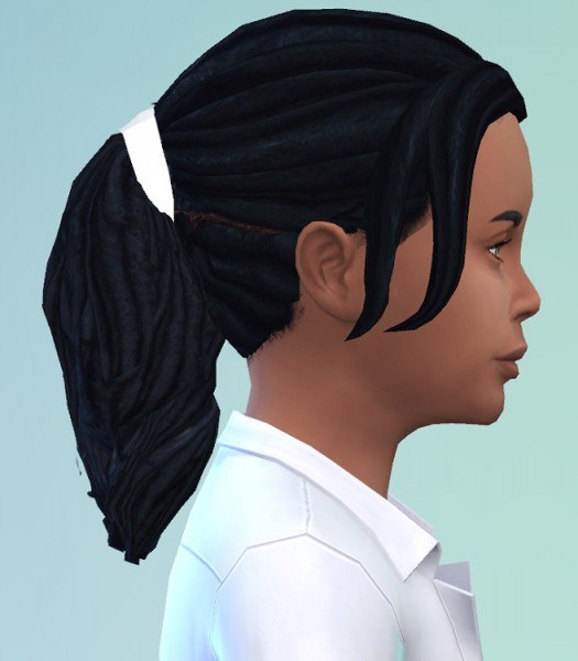 Birksches sims blog: Kids Dread Ponytail for Sims 4