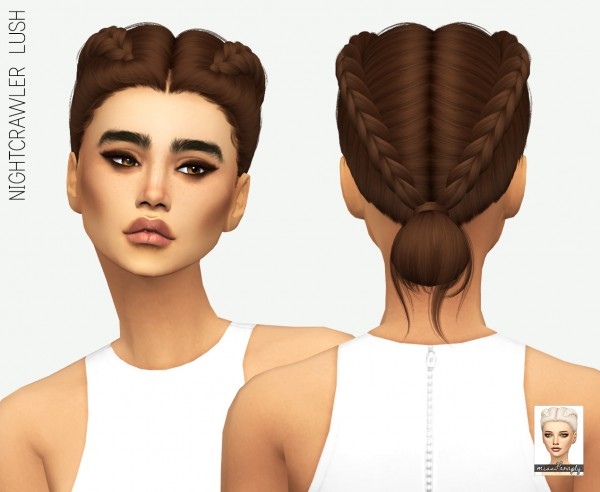 Miss Paraply: Nightcrawler`s Lush hair retextured for Sims 4