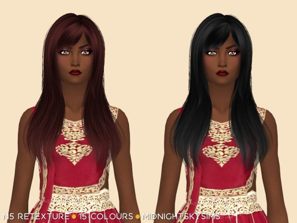 Simsworkshop: Natural hair retextured by midnightskysims for Sims 4