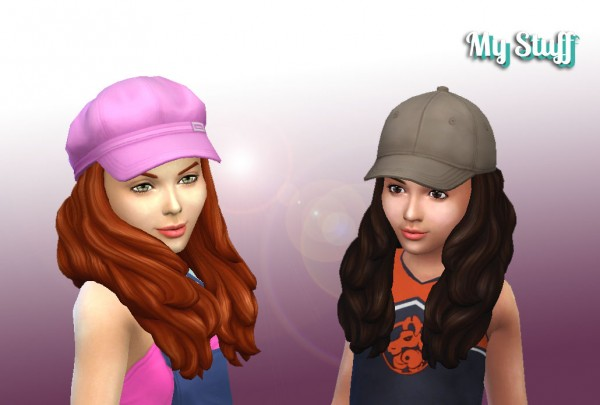 Mystufforigin: Enchanting Hair for Girls for Sims 4