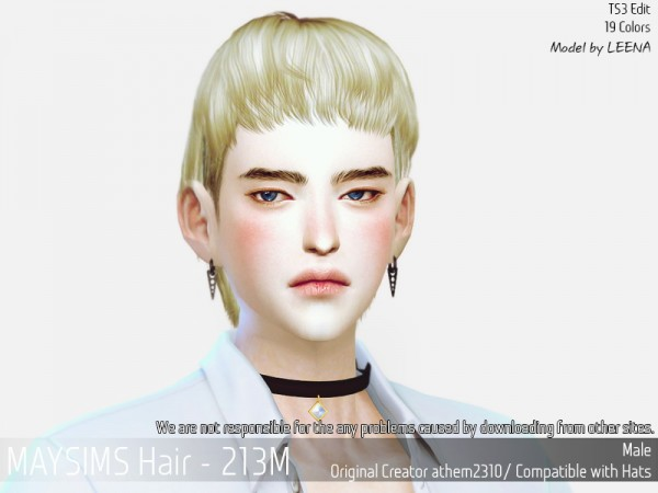 MAY Sims: May 213M hair retextured for Sims 4