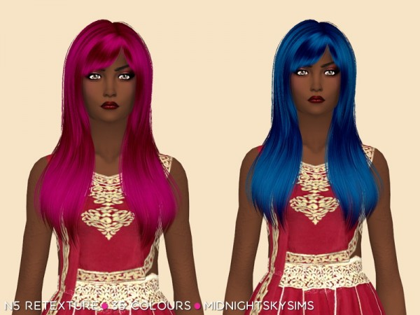 Simsworkshop: Unnatural hair retextured by midnightskysims for Sims 4