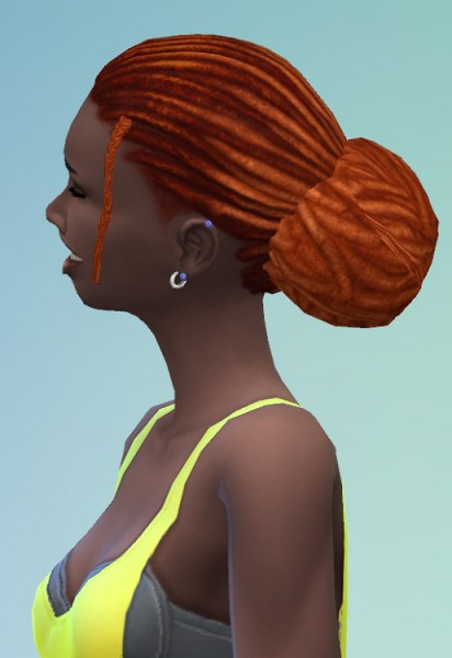 Birksches sims blog: Backyard Dreads Bun for Sims 4