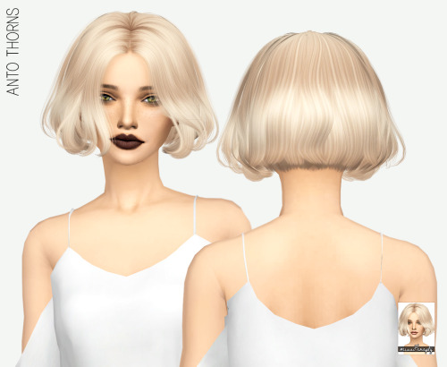 Miss Paraply: Anto`s Thorns hair retextured for Sims 4