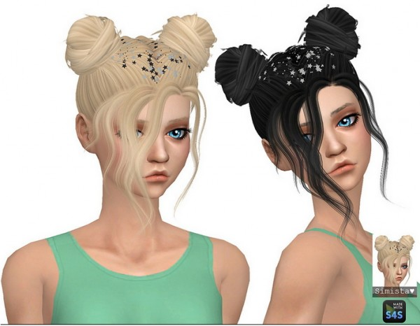 Simista: Nevaeh Hair Retextured for Sims 4