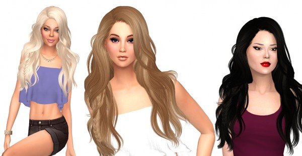 Sims Fun Stuff: Newsea`s Titanium hair recolor for Sims 4