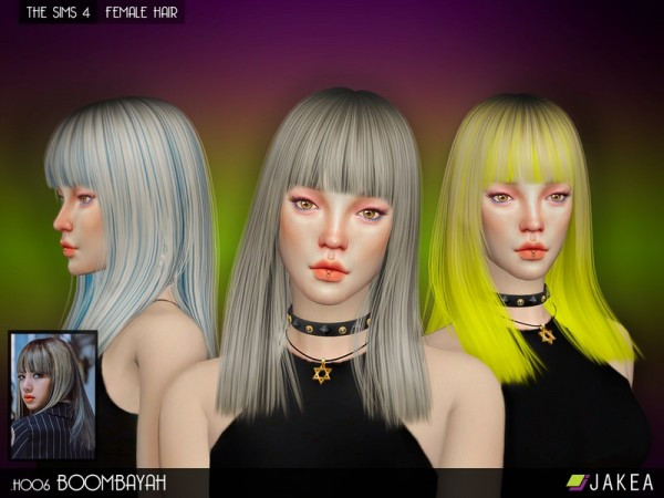The Sims Resource: H006   Boombayah hair by Jakea Sims for Sims 4