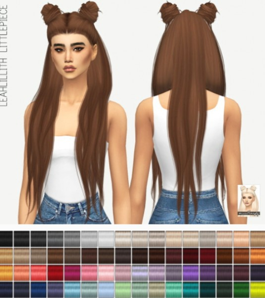 Miss Paraply: Leahlillith`s Littlepiece solid hair retextured for Sims 4