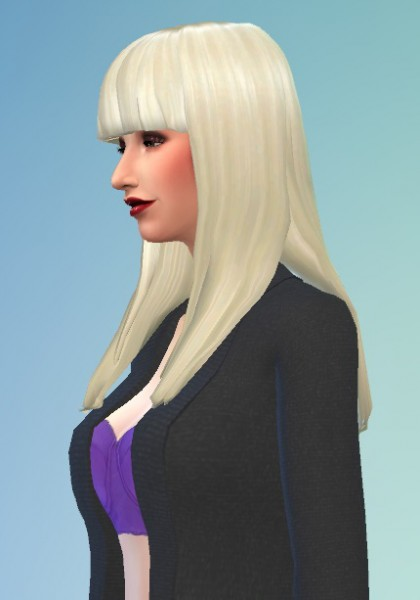 Birksches sims blog: Lady Bangs hair for Sims 4