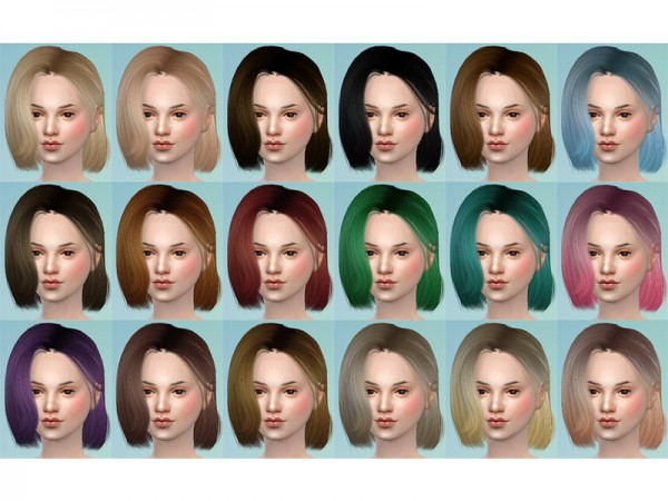 The Sims Resource: Katheryn Hair 19 Set by tsminh 3 for Sims 4