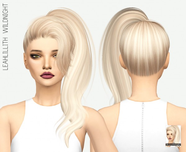 Miss Paraply: Leahlillith`s Wildnight hair retextured for Sims 4