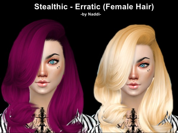 The Sims Resource: Stealthic`s Erratic hairstyle recolored by Naddiswelt for Sims 4