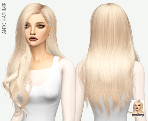 Miss Paraply: Anto`s Kashmir hair retextured for Sims 4