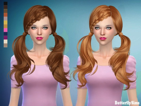 Butterflysims: Hair 052F No hat for Sims 4