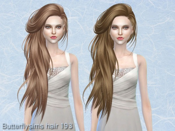 Butterflysims: Hair 193 for Sims 4