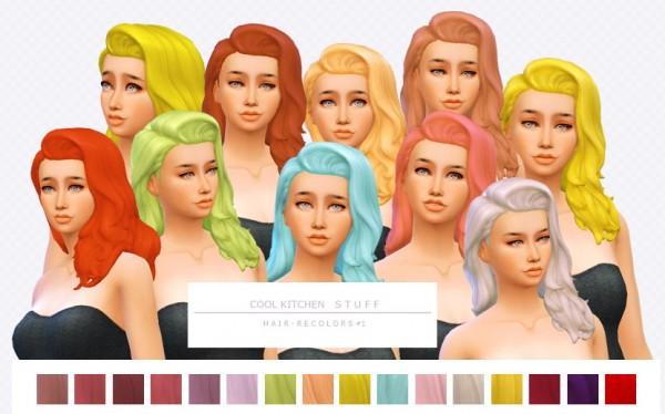 Simsworkshop: Cool Kitchen Stuff   Hair Recolors by asimsfetish for Sims 4