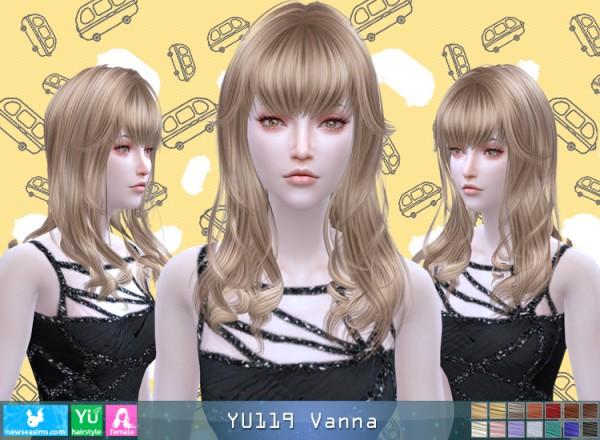 NewSea: YU119 Vanna hair for Sims 4