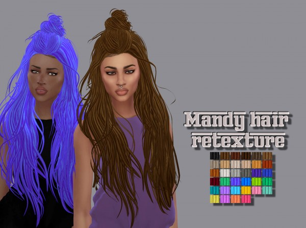Simsworkshop: Mandy Hair Ethnic Retextured by maimouth for Sims 4