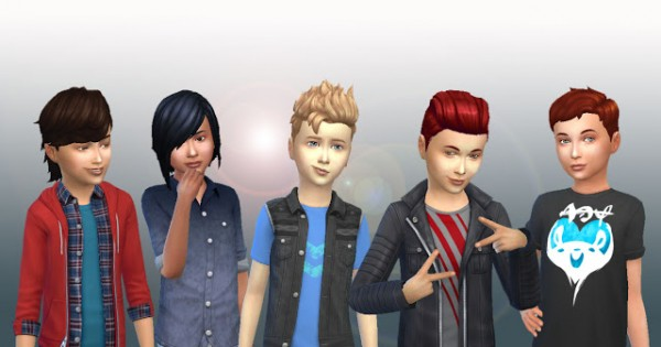 Mystufforigin: Boys Hair Pack for Sims 4