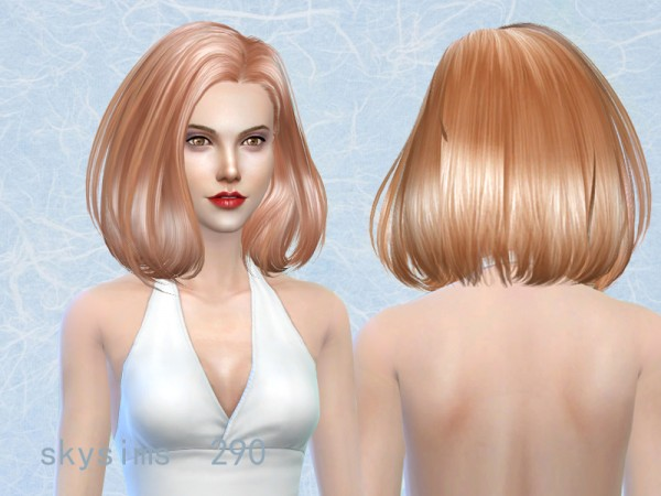 Butterflysims: 290t hair by Skysims for Sims 4