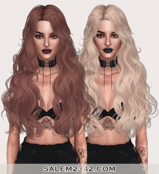 Salem2342: Newsea`s Patron Saint Hair Retextured for Sims 4
