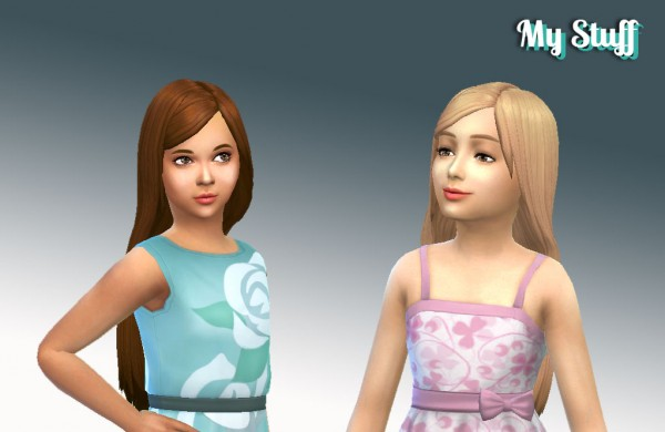 Mystufforigin: Melodious Hairstyle for Girls for Sims 4